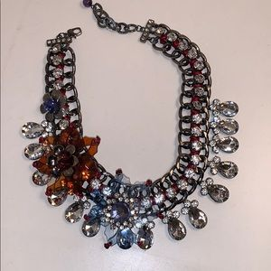 Embellished crystals and chain necklace!